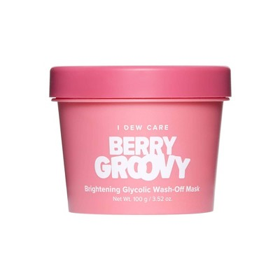I DEW CARE Berry Groovy Brightening Glycolic Wash-Off Mask - 3.52oz