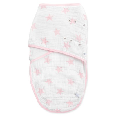 Aden® by Aden + Anais® Easy Swaddle - Doll - Light Pink - S