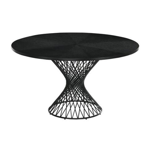 54 Cirque Round Metal Pedestal Dining, 54 Round Pedestal Table