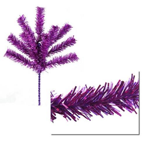 "Vickerman 7"" Purple Sparkling Tinsel Artificial Christmas Craft Pick - image 1 of 3"