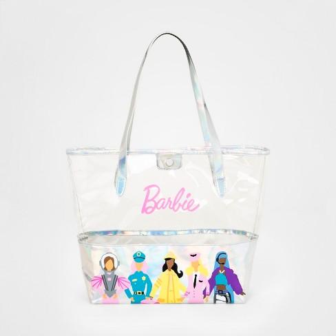 71ef3639ff5e Girls' Barbie Tote Handbag - Silver : Target