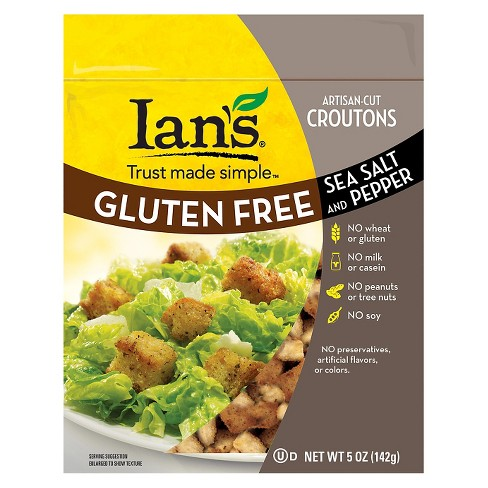 Ian's® Gluten Free Sea Salt & Pepper Croutons - 5oz - image 1 of 1