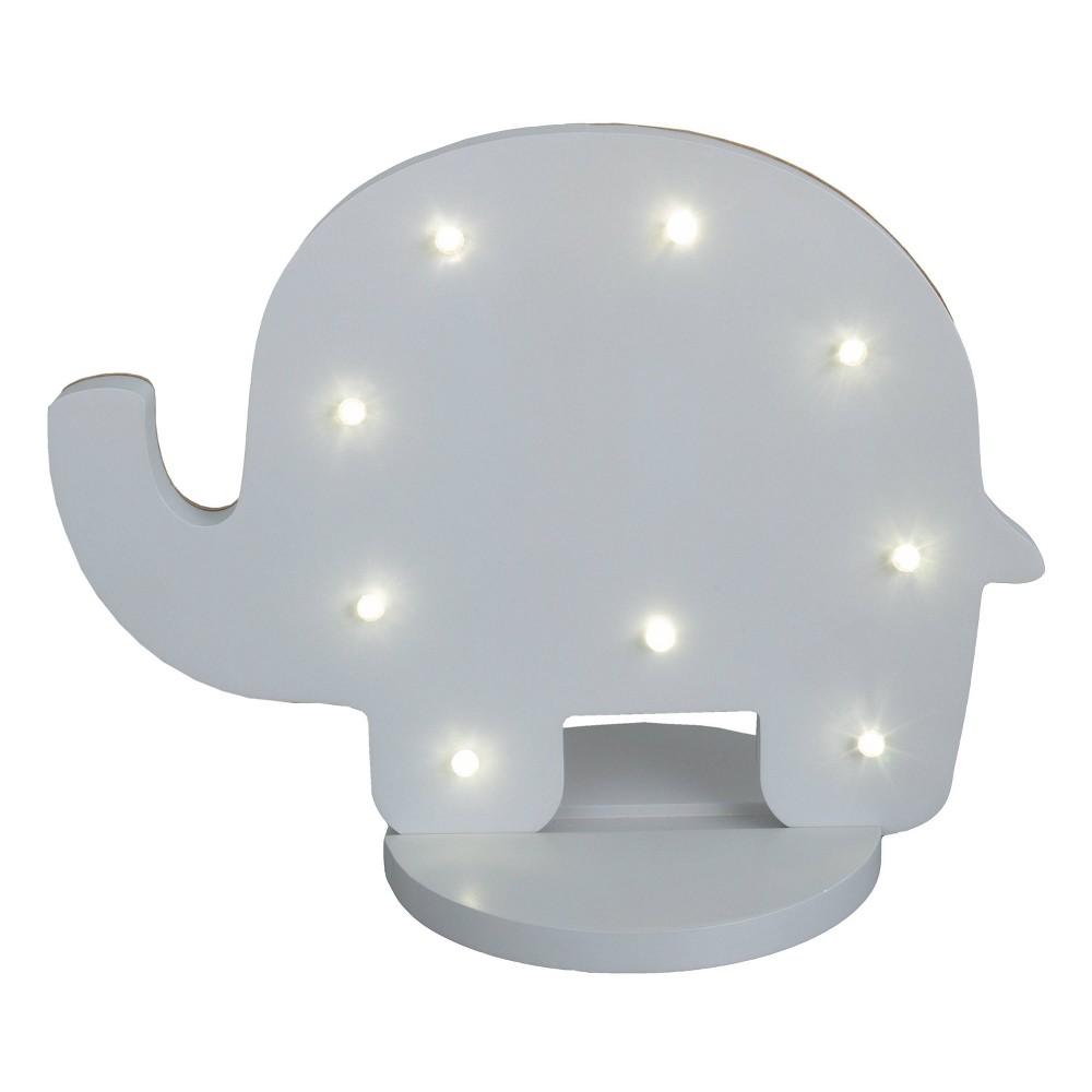 Image of NoJo Gray Elephant Shaped Lighted Nursery Decor