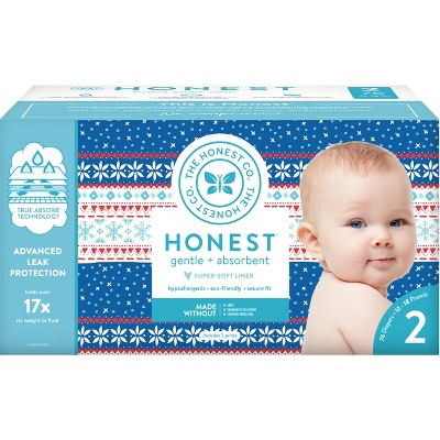 Honest Company Disposable Diapers Club Box - Size 2 (76ct)