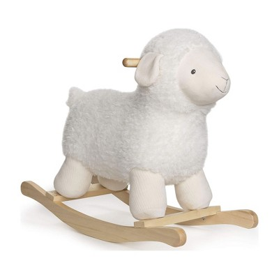 GUND 21.5 Inch Baby Lamb Plush Stuffed Animal Rocker Kids Toy and Nursery Decoration with Wooden Base for Children Ages 1 Year and Up, Cream