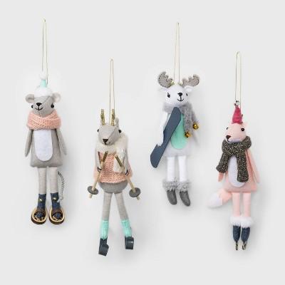 4ct Activity Animals Christmas Ornament Set - Wondershop™