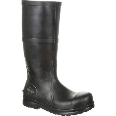 Men's SlipGrips Steel Toe Slip-Resistant Waterproof Rubber Work Boot