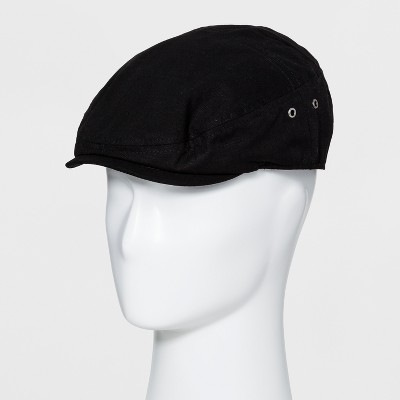 c14df894d31 Men s Ripstop Falt Cap With Metal Eyelets Fitted Driving Cap - Goodfellow    Co™ Black