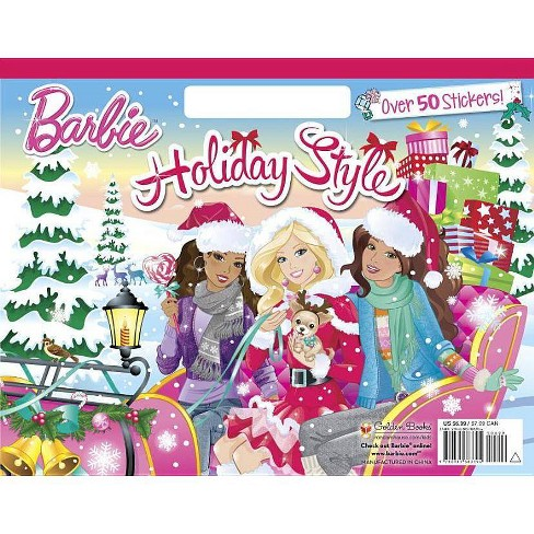 Holiday Style (Barbie) - (Big Coloring Book) by Mary Man-Kong (Paperback)
