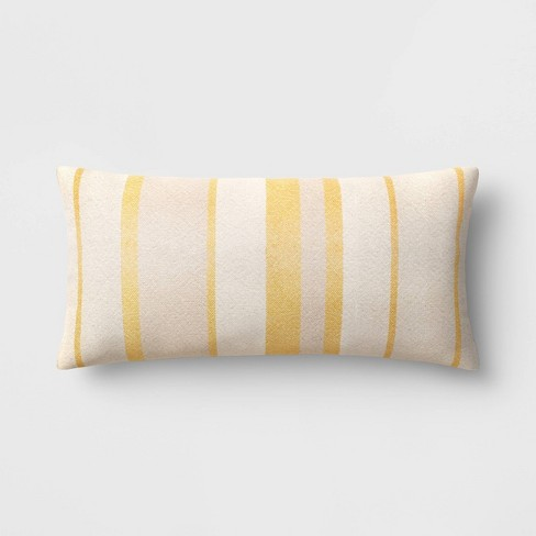 Oversized Woven Striped Throw Pillow Neutral/Yellow - Threshold™ - image 1 of 4