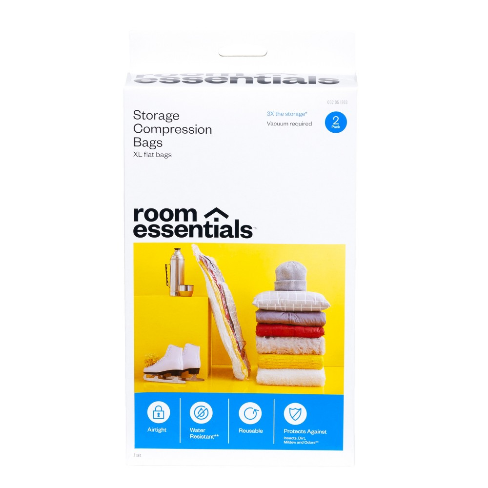 2 XL Compression Bags Clear - Room Essentials Cheap