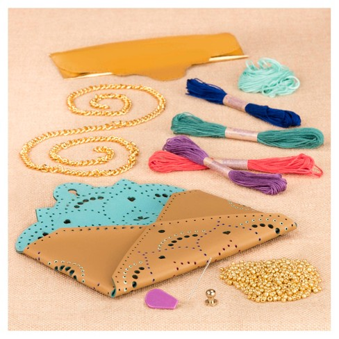 Craftabelle Embroidered Leather Clutch Kit - image 1 of 4