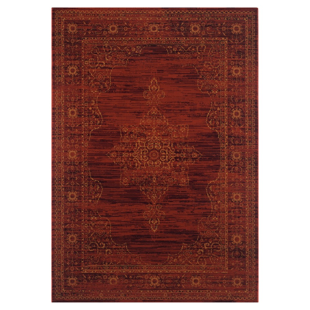 Amelia Area Rug - Ruby/Gold ( 8' X 10') - Safavieh, Red/Red