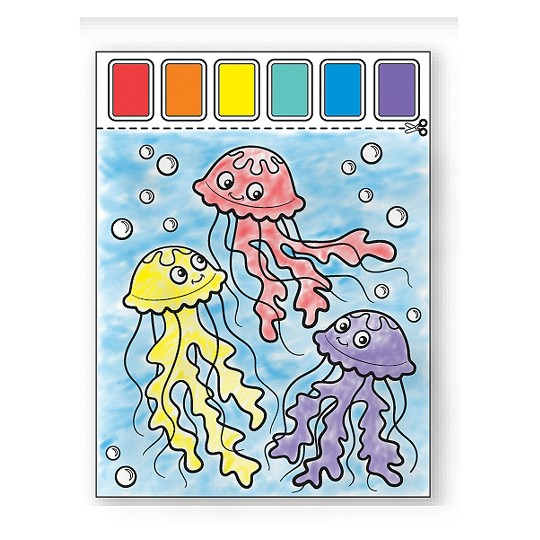 Melissa & Doug Paint With Water Activity Books Set: Farm, Ocean, Safari image number null