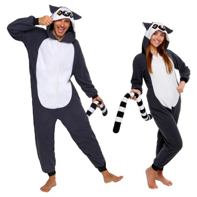 FUNZIEZ! - Lemur Slim Fit Adult Unisex Novelty Union Suit