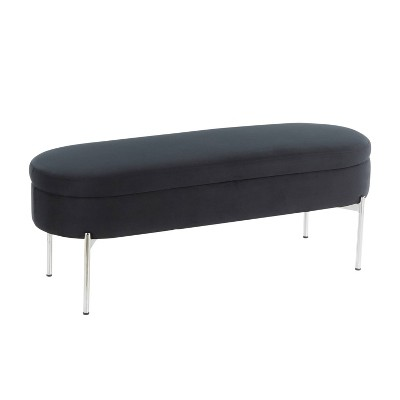 "48"" Chloe Contemporary Upholstered Storage Bench - LumiSource"