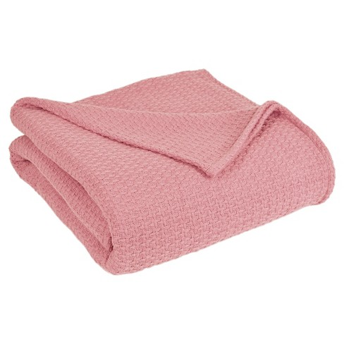 Grand Hotel Cotton Solid Blanket (Twin) Pink - Elite Home® - image 1 of 1