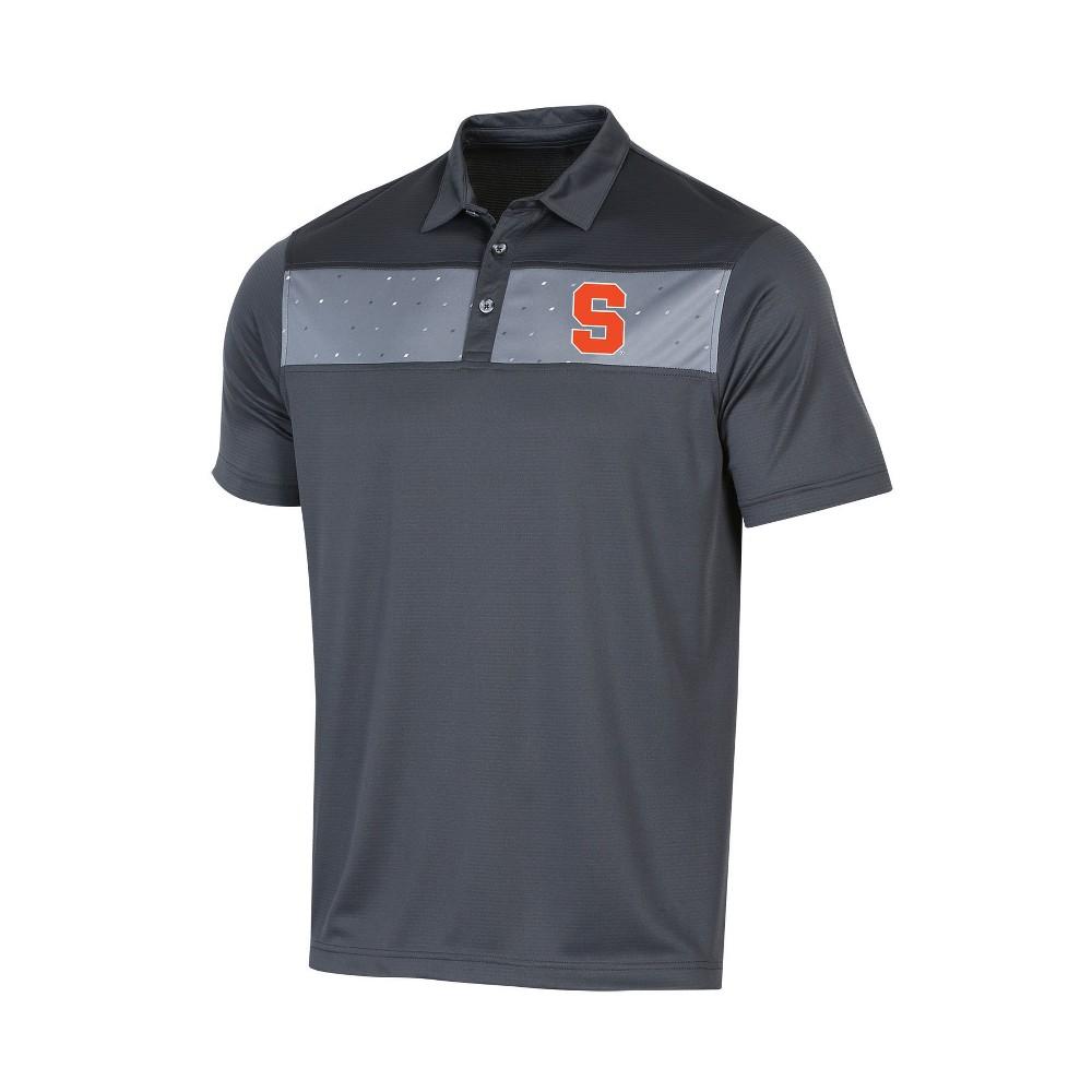 NCAA Men's Short Sleeve Polo Shirt Syracuse Orange - L, Multicolored