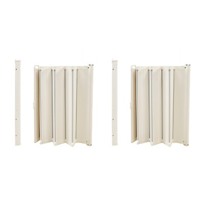 BabyDan 2 x BBD-60214-2401 Guard Me 25.4-36 Inch Wide Doorway Auto Foldable Safety Baby Gate, White (2 Pack)
