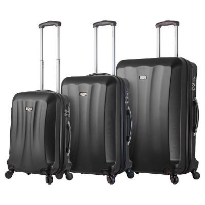 Mia Viaggi Siena Hardside Spinner 3pc Luggage Set - Black