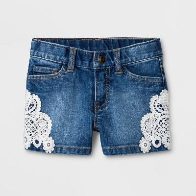 Toddler Girls' Denim Shorts - Cat & Jack™ Medium Wash 12M