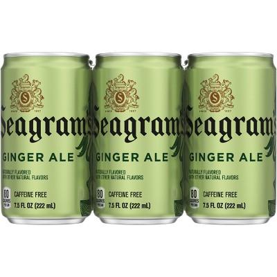 Seagram's Ginger Ale - 6pk/7.5 fl oz Mini-Cans