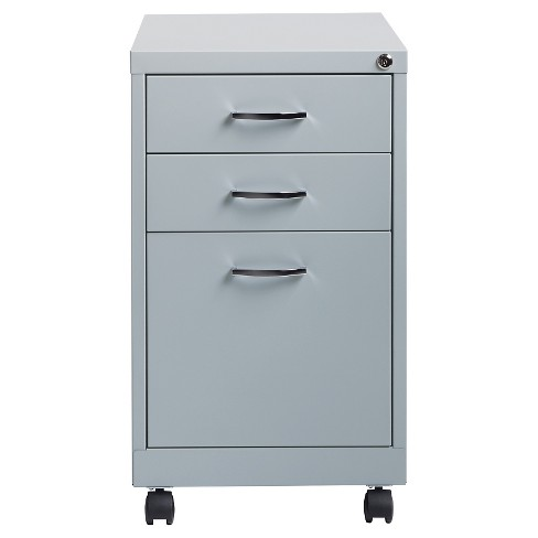 Hirsh Industries Office Dimensions File Cabinet on Wheels, 3 Drawer - Platinum - image 1 of 3