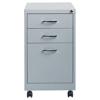 Charmant Hirsh Industries® Office Dimensions File Cabinet On Wheels, 3 Drawer    Platinum