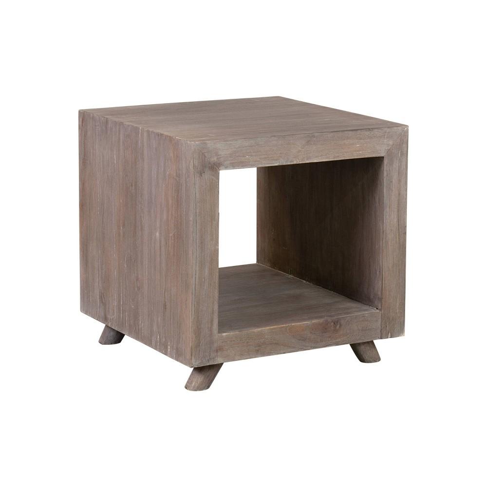 Kybos Cube Nightstand Bedside Gray Wash - East At Main