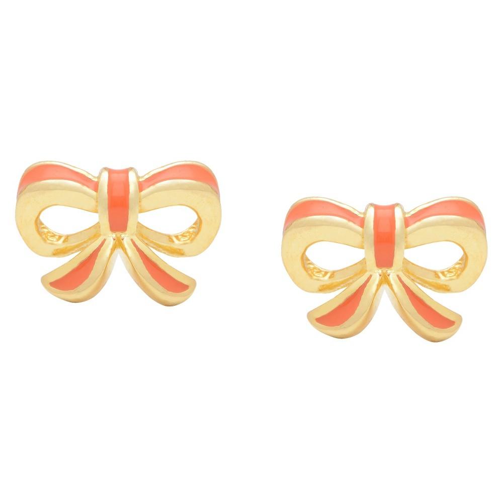 Target Ellen 18k Gold Overlay Enamel Children's Bow Stud ...
