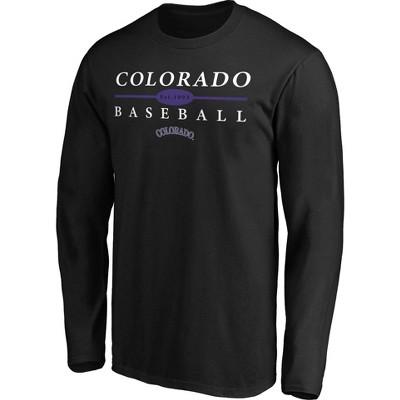 MLB Colorado Rockies Men's Long Sleeve Core T-Shirt