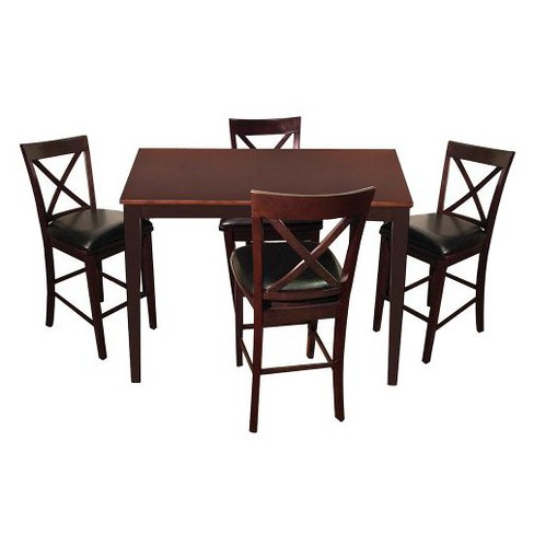 5pc Madison Counter Set Espresso - Home Source - image 1 of 2