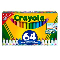 Crayola Broadline Markers 64ct Washable