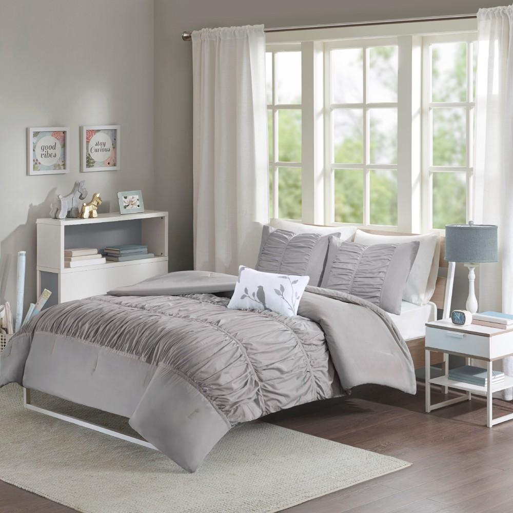 Gray Haley Comforter Set Twin 3pc 7pc