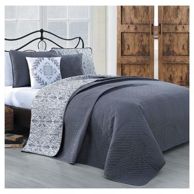 Gray Capri Quilt Set (King)5pc