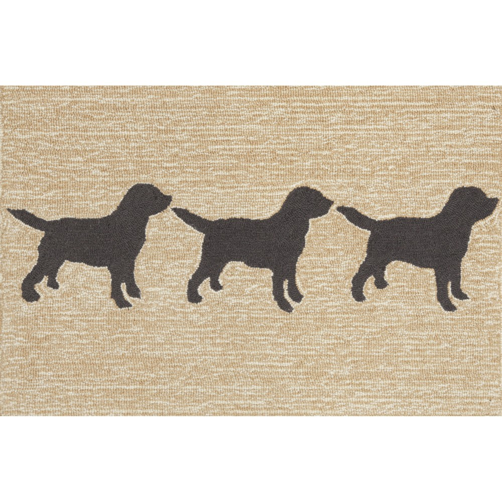 Image of 2'X5' Dogs Runner Black - Liora Manne
