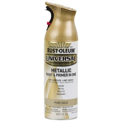 Rust-Oleum 11oz Universal Metallic Spray Paint Pure Gold
