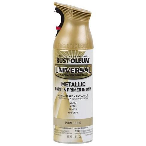Rust-Oleum 11oz Universal Metallic Spray Paint Pure Gold - image 1 of 3