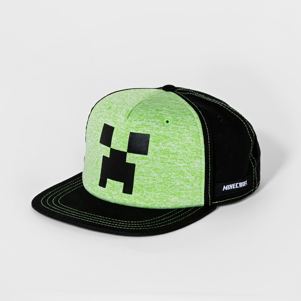 Image of Boys' Minecraft Creeper Baseball Hat - Green/Black, Boy's, Size: Small