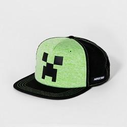 Boys' Minecraft Creeper Baseball Hat - Green/Black