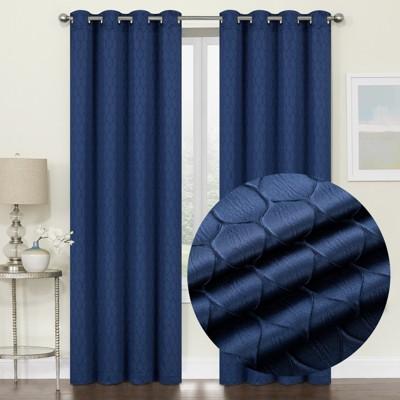 2 Pack: Kate Aurora Modern Lattice Semi Sheer Window Curtain Panels