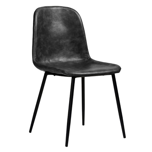 Max Modern Upholstered Faux Leather Dining Chair Set Of 2 Aeon Target