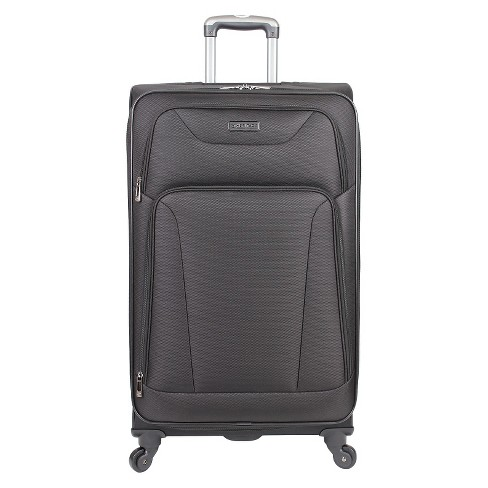 "Heritage Wicker Park Polyester 4 Wheel Expandable Suitcase - Black (28"") - image 1 of 2"
