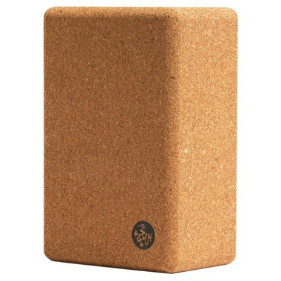 Manduka Cork Yoga Block - Light Brown