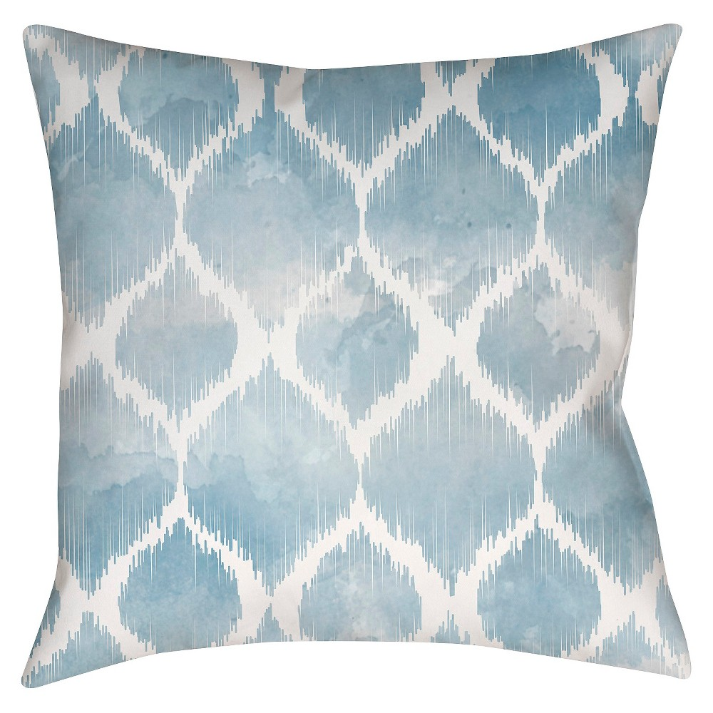 Slate (Grey) Pastel Ogee Throw Pillow 18