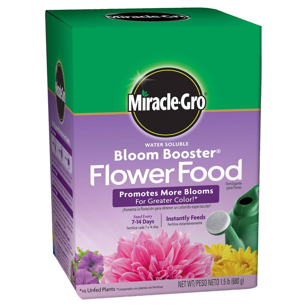 Image of Miracle-Gro Water Soluble Bloom Booster Flower Food 1.5lb