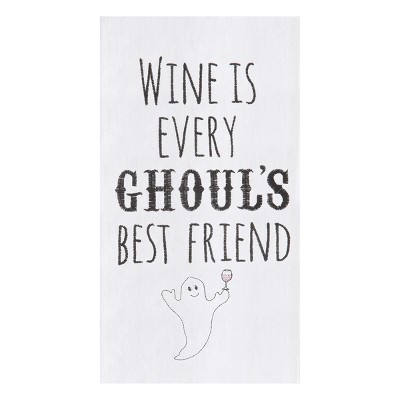 C&F Home Every Ghouls Best Friend Flour Sack Embroidered Cotton Kitchen Towel