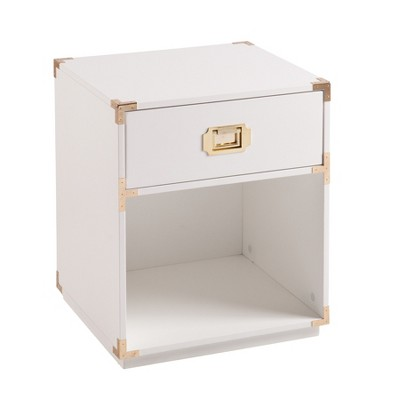 Claude Tall Storage Side Table With Drawer - Aiden Lane