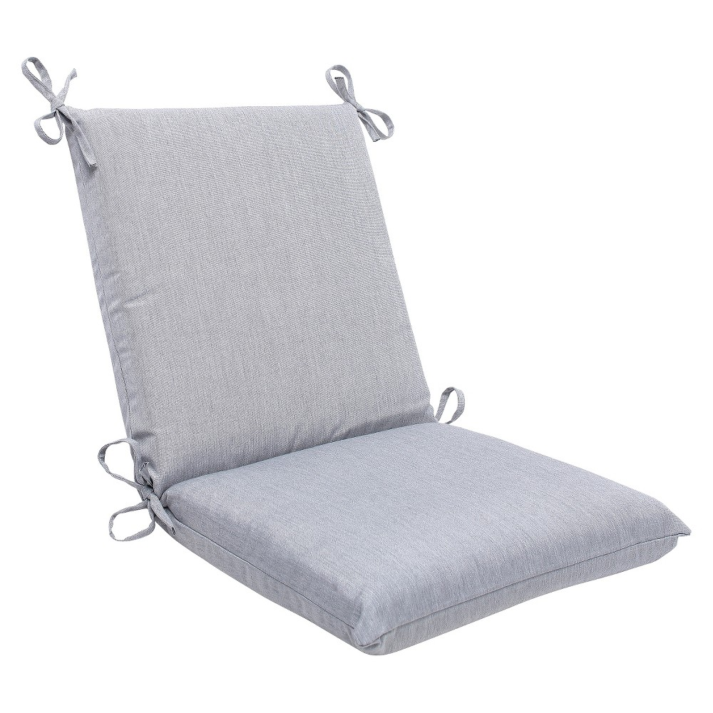 Sunbrella Canvas Outdoor Squared Edge Chair Cushion - Gray