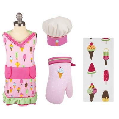 Ice-Cream Print Girls Apron Set - MU Kitchen